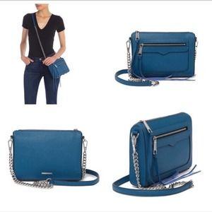 Rebecca Minkoff Avery Crossbody Bag Lake Blue NWT